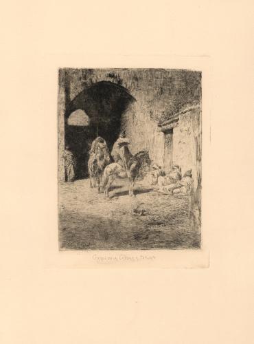 Garde de la Kasbah à Tetuan [Guardia de la kasbah en Tetuán]