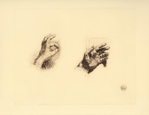 Estudio de las manos de Fortuny (?)