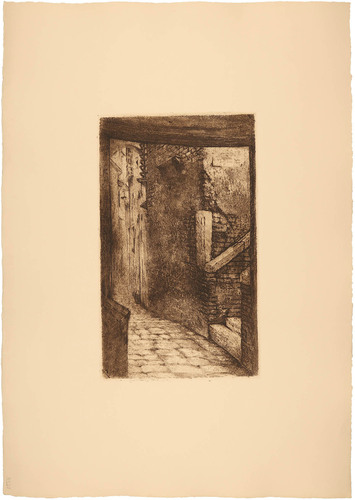 Venecia. Sotopórtico y calle