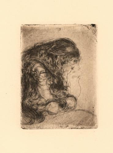 Mujer con gran cabellera I