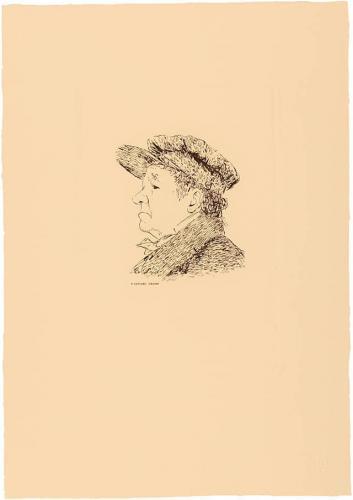 Autorretrato de Goya según dibujo de Goya