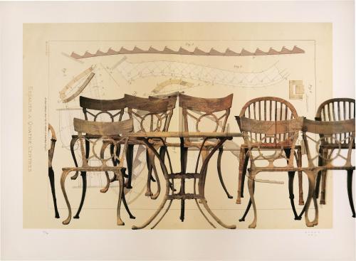 Arquitectura para sillas de jardín