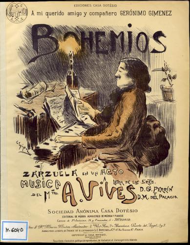 Bohemios : paso doble sobre motivos de la zarzuela de A. Vives / arr. de M. Hervás.