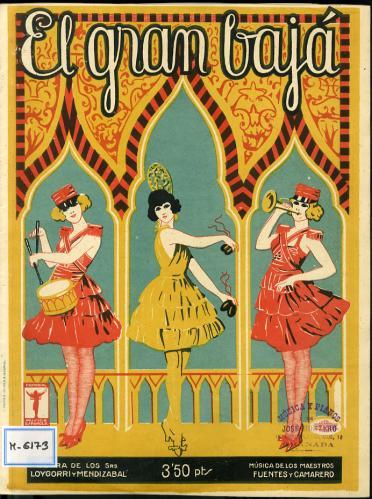 El gran bajá : fantasía cómico lírica en un acto / letra de Loygorri y Mendizábal ; música de Fuentes y Camarero.